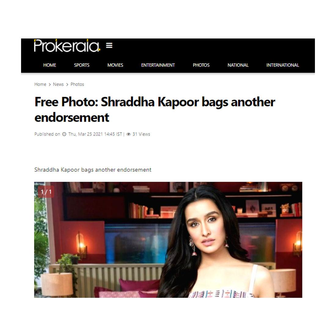 Shraddha Kapoor Bella Casa